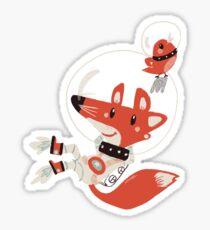 Spacefox Sticker