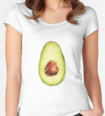 polygonal avocado Women's Fitted Scoop T-Shirt