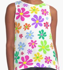 Colorful floral pattern on white background Contrast Tank