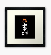 The Fifth Element - Leeloo silhouette Framed Print