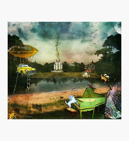 To Wish Impossible Things (art, poetry & music) Photographic Print