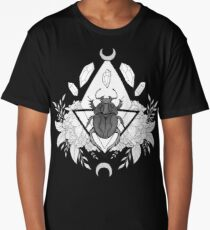 Scarab Queen // Black & White Long T-Shirt