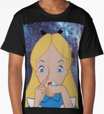 Alice in Wonderland doing a Bump Long T-Shirt