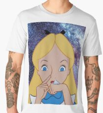 Alice in Wonderland doing a Bump Men's Premium T-Shirt