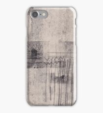 Heartbeat - Abstract Monoprint Artwork iPhone Case/Skin