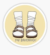 you birkenrock yellow Sticker