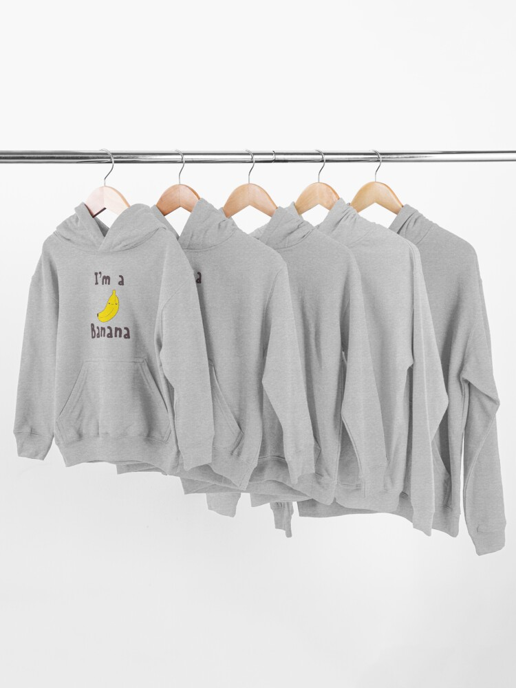 Alternate view of I'm a Banana Kids Pullover Hoodie