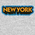 New York State Sticker   Retro Pop by retroready