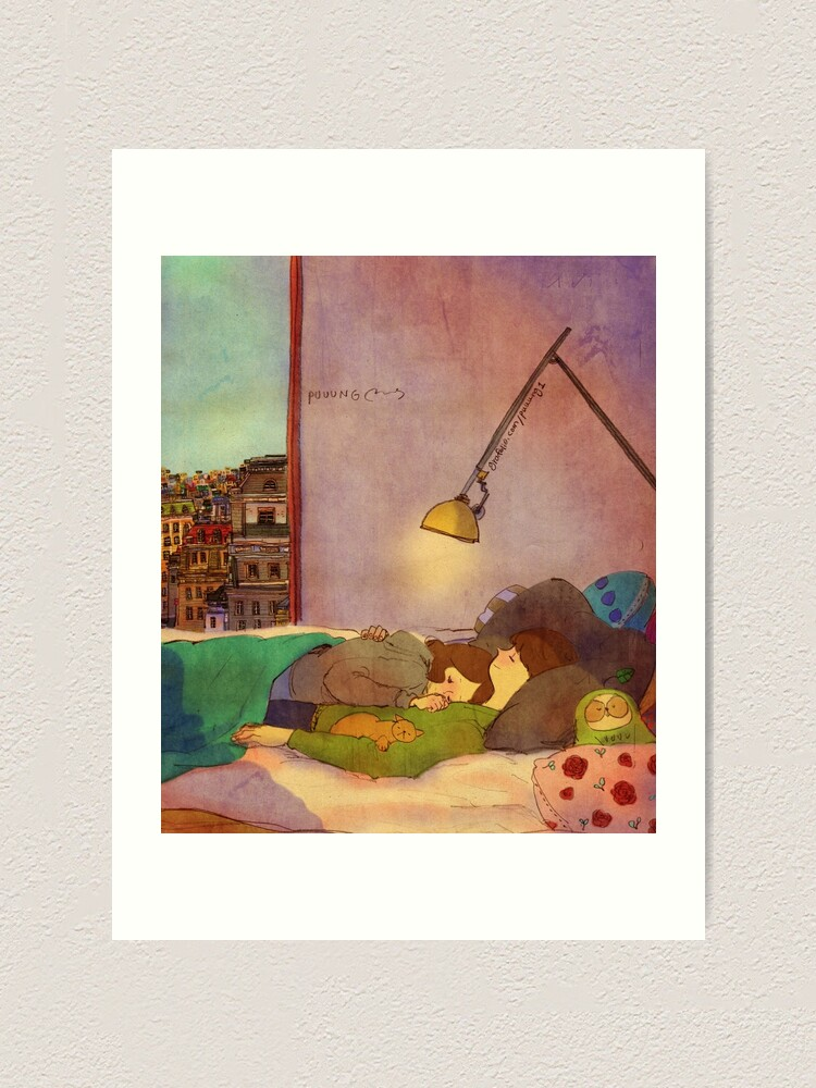 Alternate view of Nap together Art Print