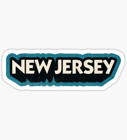 New Jersey State Sticker | Retro Pop Sticker