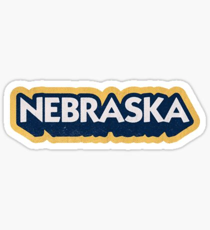 Nebraska State Sticker | Retro Pop Sticker