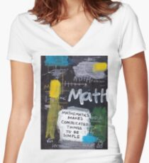 Math Women's Fitted V-Neck T-Shirt