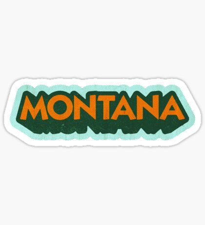 Montana State Sticker | Retro Pop Sticker