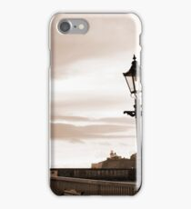 row of vintage lamps in sepia iPhone Case/Skin