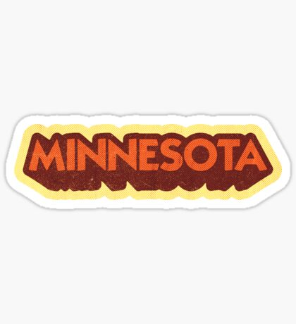 Minnesota State Sticker | Retro Pop Sticker