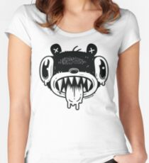 Noodle Bear Face Women's Fitted Scoop T-Shirt