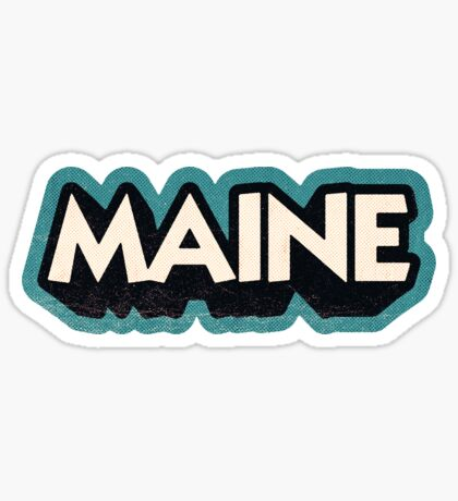 Maine State Sticker | Retro Pop Sticker
