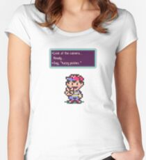 Earthbound Fuzzy Pickles Women's Fitted Scoop T-Shirt