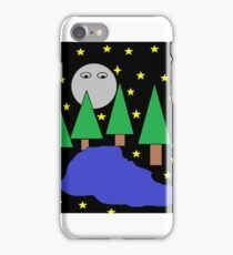 Forest At Night With A Lake Edition 2 iPhone Case/Skin