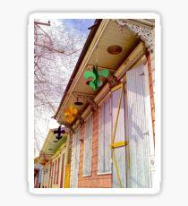 Hanging Fleur De Lis House Sticker