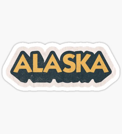 Alaska State Sticker | Retro Pop Sticker