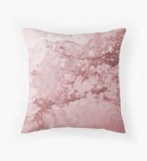 Pink Marble Throw Pillow