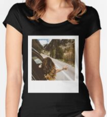 Road Trip Polaroid Women's Fitted Scoop T-Shirt