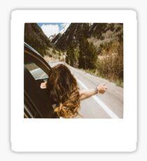Road Trip Polaroid Sticker