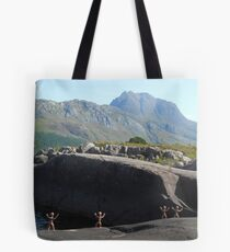 Clay People approaching Slioch Tote Bag