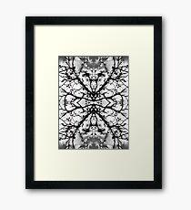 Magnolia pattern Framed Print
