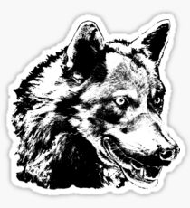 Wolf Painting Stickers Sticker