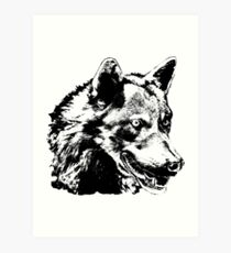 Wolf Painting Stickers Art Print
