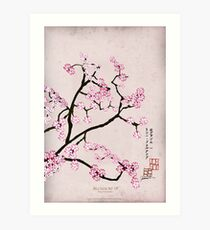 Antique Pink Cherry 7 by Tony Fernandes Art Print