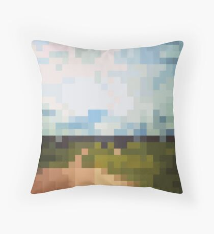 Digital Landscape #6 Throw Pillow
