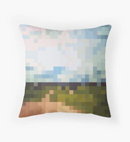 Digital Landscape #6 Throw Pillow
