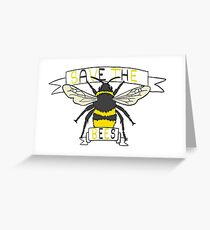 Save the bees! Greeting Card