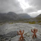 Clay people face Beinn Eighe by Vicky Stonebridge