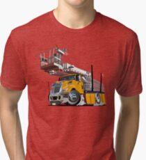 Cartoon Platform Lift Truck Tri-blend T-Shirt