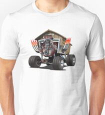 Vector Cartoon Garage Hot Rod. T-Shirt