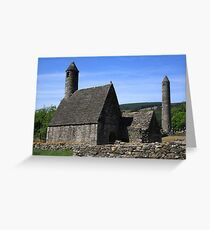 St Kevins Church And Round Tower Greeting Card