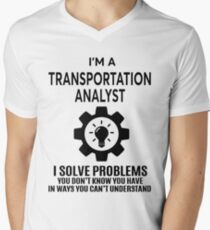 TRANSPORTATION ANALYST - NICE DESIGN 2017 Men's V-Neck T-Shirt