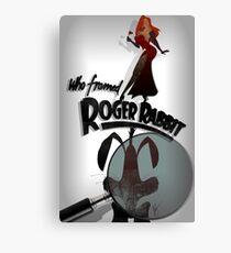 Who Framed Roger Rabbit Noir Poster Canvas Print
