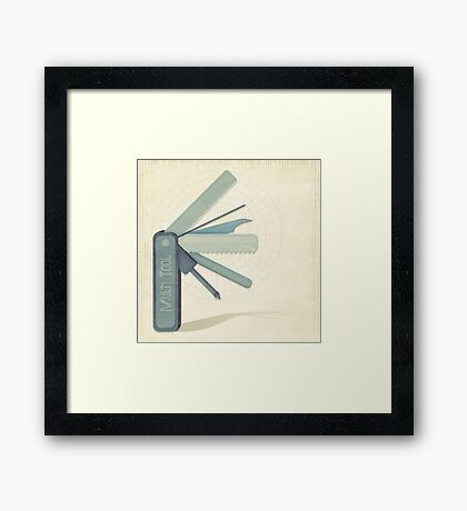 The Post Apocalyptic Series:  Multi-Tool Framed Print