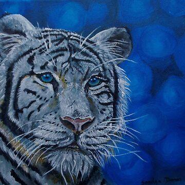 bleu tiger by sandradamenart