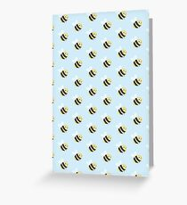 Bumble Bee Pattern Greeting Card