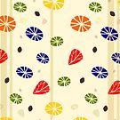 Floral Background in Retro Style von germanX