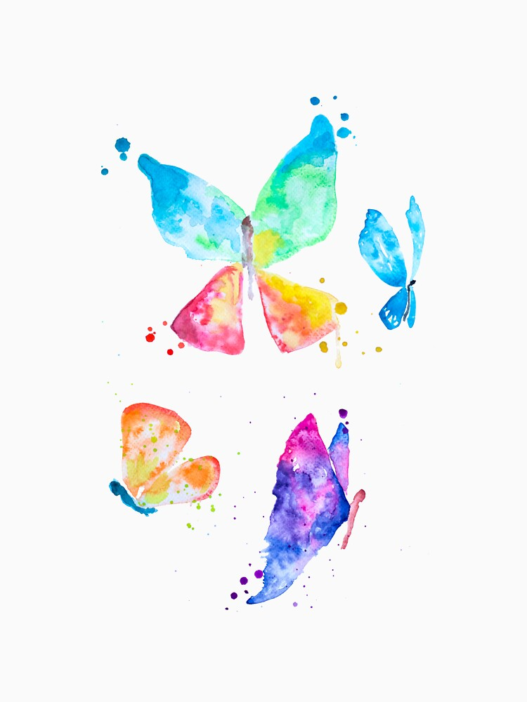 Colorful butterflies by Pintarrajearte
