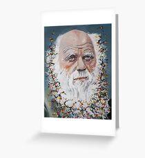 CHARLES DARWIN - oil portrait.3 Greeting Card