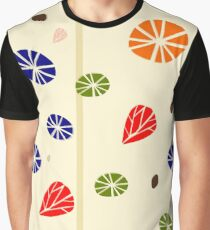 Floral Background in Retro Style Graphic T-Shirt