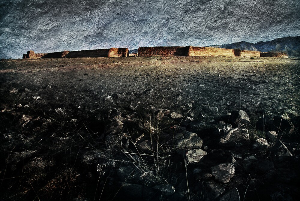 An Ancient City on Jingtai Gobi Desert 04 by Zhaomin